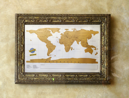 Grab Your World Scratch Off Map Here GulliverGearcom - Framed scratch world map